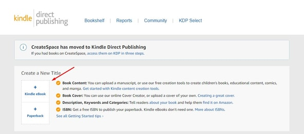 Kindle Publishing Dashboard